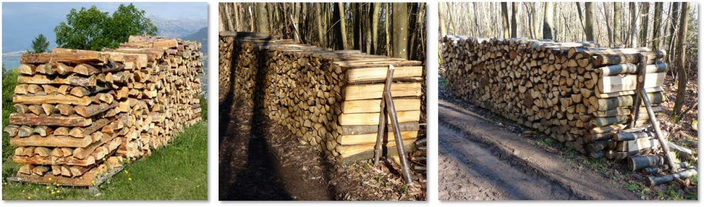 stockage bois forêt